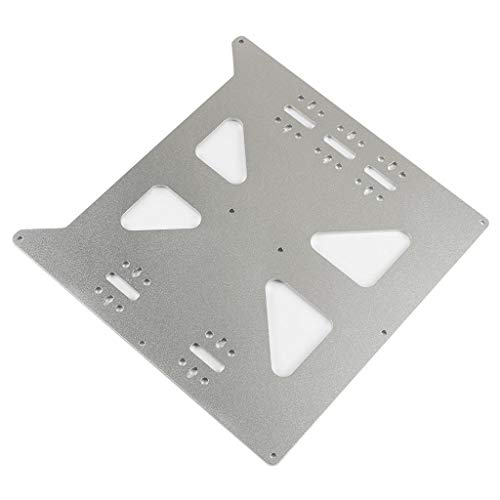 QuanRuiWuLiu Componentes de impresión en 3D V2 Caliente Soporte Cama Placa del Eje Y climatizada Cama Placa de Aluminio oxidación Base for Impresora 3D, Durable y Resistente