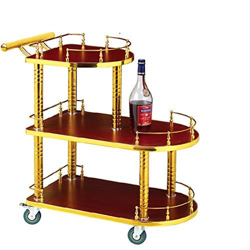 cj-CJ 3-Regal bar Wagen mit Edelstahl-formular,Küche Mehrzweck-warenkorb Tätig in cart Frame Beistelltisch für Restaurant Hotel Home -E 80x40x81cm(31x16x32)