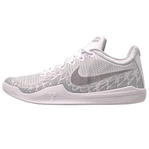 Nike Men's Kobe Mamba Rage Basketball Shoes (10, White/Black/Pure Platinum)