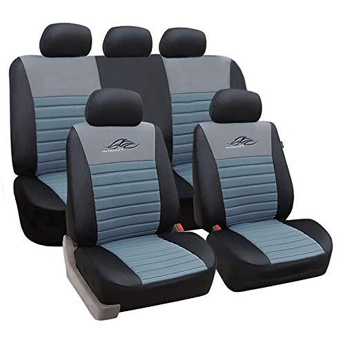 Sitzbez/üge Komplettset Sitzbezug f/ür Auto Sitzschoner Set Schonbez/üge Autositz Autositzbez/üge Sitzauflagen Sitzschutz Elegance Universal 5-Sitze Blau gsmarkt