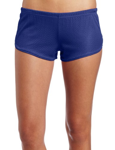 Soffe Women's Mesh Teeny Tiny Short, Royal, Small