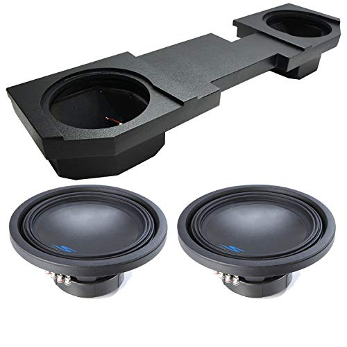 """Compatible with 2002-2015 Dodge Ram Quad or Crew Truck Alpine Type S S-W12D2 Dual 12"""" Rhino Coated Sub Box Enclosure - Final 2 Ohm"""