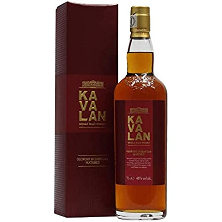 Kavalan Oloroso Sherry Oak Matured Single Malt Whisky 70cl 46% With Gift Box