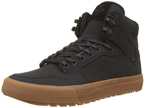Supra Vaider CW Skate Shoe, Black/Black-Gum, 12 Regular US