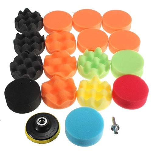 Best Deals! Multitool Sanding Kits 19pcs Drill Adapter Sponge Waxing Polishing Buff Pads Set Kit wit...