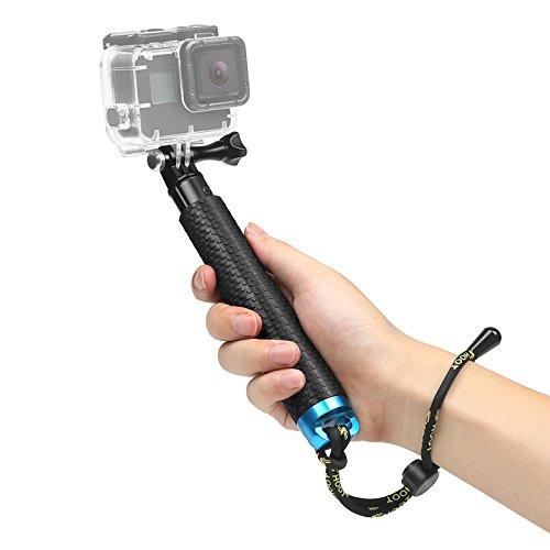 D&F 22'' Impermeabile Regolabile Telescopico Monopiede Selfie Stick Pole Con Wifi clip per GoPro Hero 5/4/3+/3/2/1 SJCAM SJ4000/5000 Camera e Altro