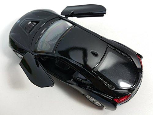 Kinsmart BMW Black i8 Hybrid Plug-In 2 Door Coupe 1/32 Scale Diecast Sports Car