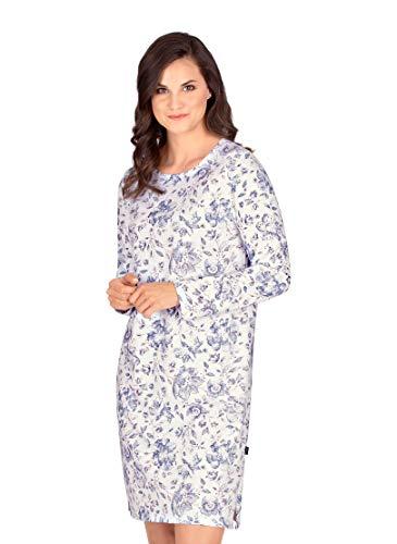 Trigema Damen Knielanges Nachthemd mit floralem Muster