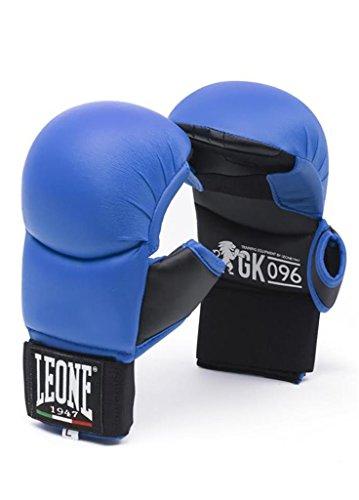 LEONE 1947 GK096 Fit-Karate-Handschuhe, Unisex - Erwachsene, Blau, L