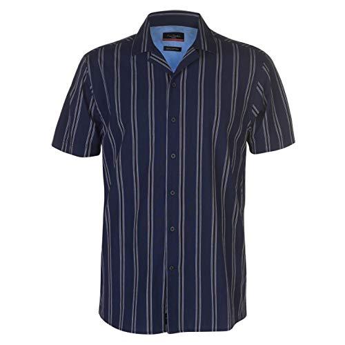 Pierre Cardin Hombre Camisa Casual De Algodón De Rayas