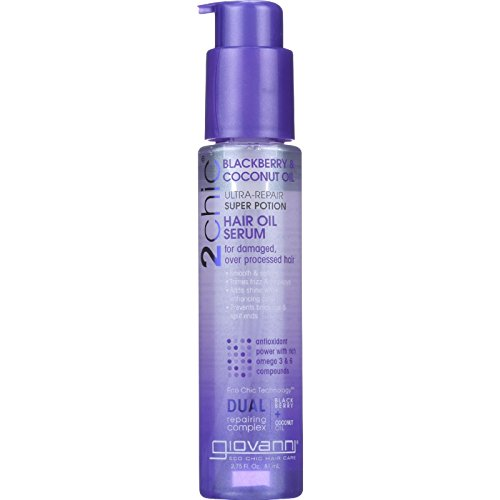 Giovanni Hair Care Products Hair Oil Serum - 2chic - Repairing - Super Potion - BlackBerry and Coconut Oil - 2.75 oz