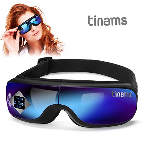 Tinams Electric Eye Massager with Graphene Heating, Smart Massage Eye Mask Portable Eye Massager for...