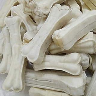 MS Pet House Dog Chew Bones 5 Inch Rawhide Pressed Bone Calcium Treat ( 5 Inches 1 Kg. )
