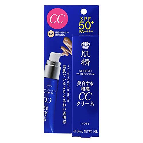 雪肌精 ホワイト CCクリーム ファンデーション 002 普通の明るさの自然な肌色 30g