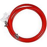 1,7 m Kugelschloss Gasleitung Montage 5/16 Zoll Kugelschloss Gas-Trennset CO2 Gasschlauch Montage extra langer roter Schlauch