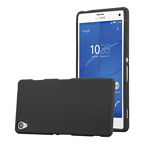 Cadorabo Hülle für Sony Xperia Z3 - Hülle in Frost SCHWARZ – Handyhülle aus TPU Silikon im matten Frosted Design - Silikonhülle Schutzhülle Ultra Slim Soft Back Cover Case Bumper
