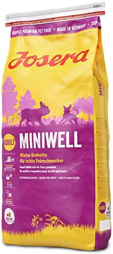 JOSERA Miniwell, Hundefutter für kleine Rassen, extra verträgliche Rezeptur mit Geflügel, Super Premium Trockenfutter für ausgewachsene Hunde, 1er Pack, (1 x 15 kg)