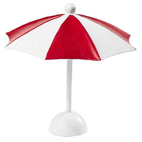 Sonnenschirm ca. 10 x 10 cm Rot-Weiß