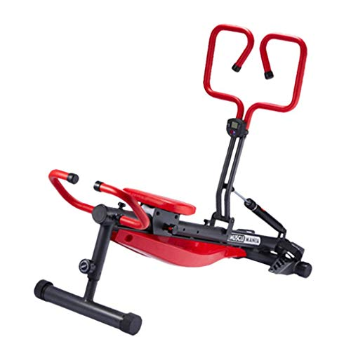 Rowing Machines Concept 2 Model D 12-speed Resistance Hydraulic Rowing Boat Silent Folding Fitness Equipment (Color : Red, Size : 174 * 46cm)