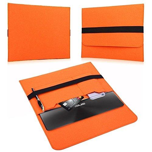 NAUC HP EliteBook Folio G1 12,5 Zoll Tasche Hülle Filz Sleeve Schutzhülle Hülle Cover, Farben:Orange