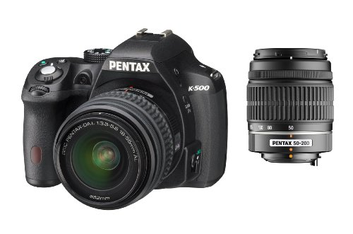Pentax K500 + DAL18-55 + 50-200 - Kit de cámara réflex Digital con Objetivo DAL 18-55 mm + 50-200 mm