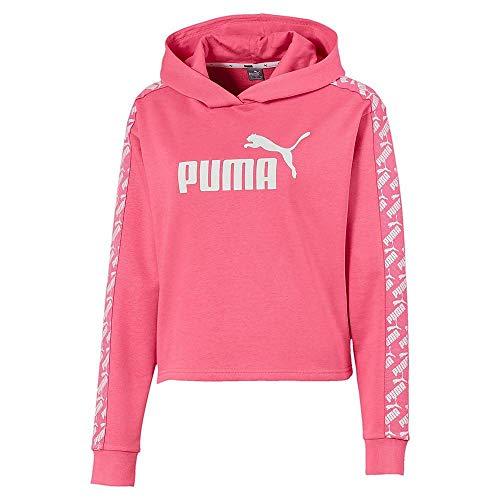 Puma Amplified Cropped TR Sweat à capuche XS Rose bonbon