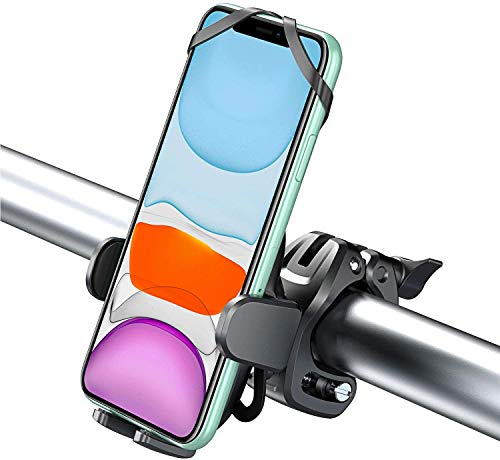 Cocoda Handyhalterung Fahrrad mit 360° Drehung, Universell Einstellbare Handyhalterung Motorrad Kompatibel mit iPhone 12 Pro Max/12 Pro/12/12 Mini/11 Pro Max/11 Pro/11/XS/XS Max, Samsung S20/S20 Plus