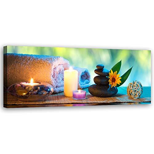 F FEEBY WALL DECOR Leinwandbild Zen Bild Kunstdruck Spa Mehrfarbig 70x25 cm