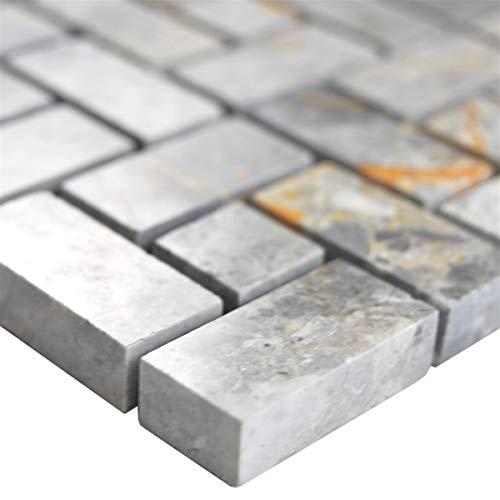 Mosaikmatte Grau für