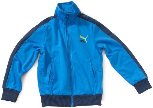 PUMA Kinder Lifestyle-Trainingsjacke, french blue-dark denim, 152, 816891 02