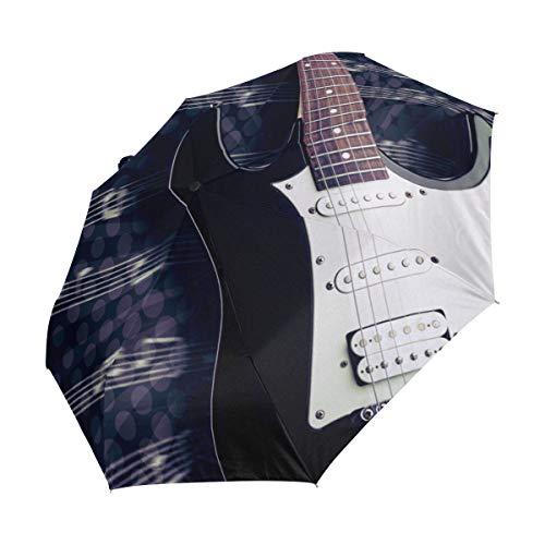 Ahomy Art Paraguas Plegable para Guitarra eléctrica, 3 Unidades, Resistente al Viento,...
