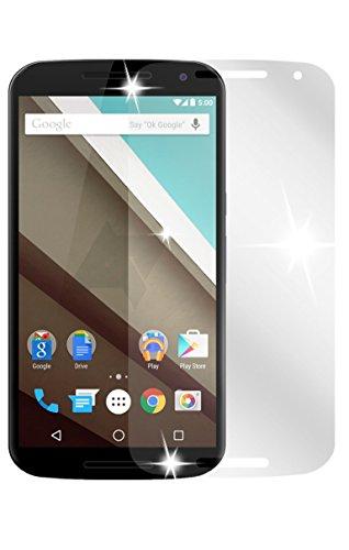 dipos I 2X Schutzfolie klar kompatibel mit Motorola Google Nexus 6 Folie Bildschirmschutzfolie