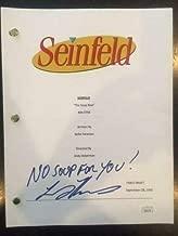 Larry Thomas Autographed Signed Memorabilia Seinfeld Script The Soup Nazi JSA Coa