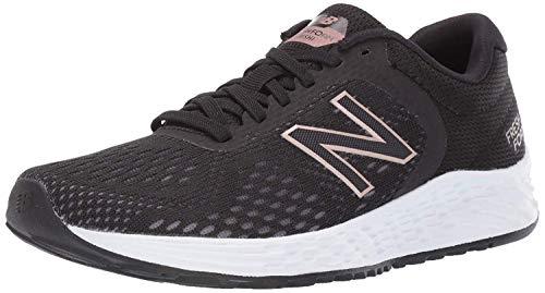 New Balance womens Fresh Foam Arishi V2 Running Shoe, Black/Rose Gold, 7.5 US
