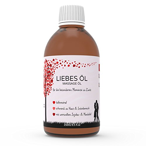 Massageöl Liebesöl für Erotische Massage | Partnermassage | Tantra - 250ml pflegendes Öl für die besonderen Momente zu Zweit