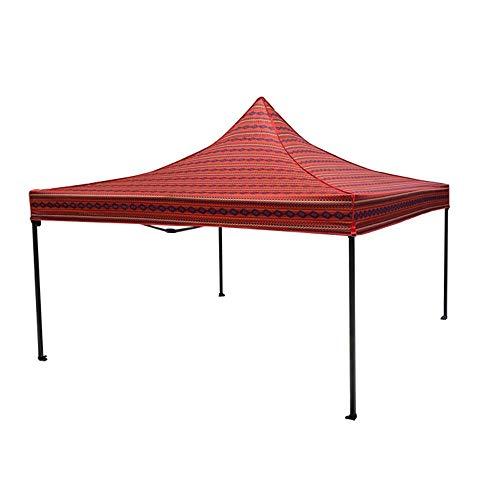 KQP Camping-Zelt Arabischer Stil Zelt im Freien Faltzelt Wüste Stil Zelt Outdoor-Zelt Im Freien Camping (Color : Red, Size : with 3 Surrounding Cloth)