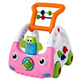 A&Dan Baby 3 in 1 Remote Control Walker Zum Stehen sitzen Learning Walker Drücken Sie Car Activity Walker mit Musik und Lichtern,Pink