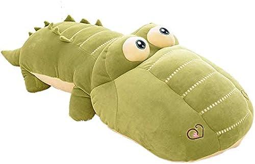 DONGER Cartoon Nilpferd Krokodil Puppe Unten Baumwollkissen Puppe Spielzeug Geburtstagsgeschenk Geschenk mädchen, Grün, 90cm