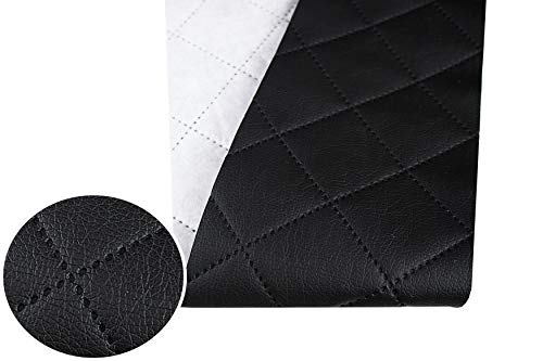 Tukan-tex (9,8€/m) Kunstleder Gesteppt Möbel Textil Meterware Polster Stoff PU - Möbelstoff (Schwarz 8100)