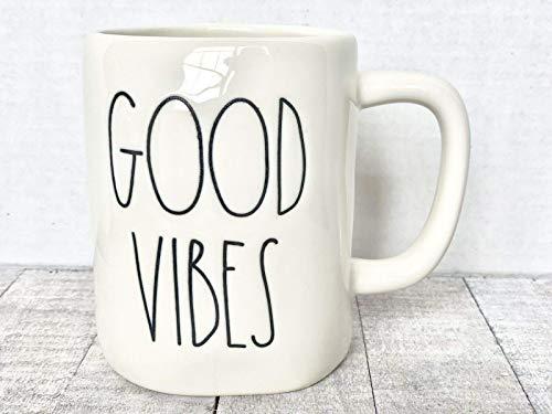 Kaffeetasse Becher RAE Dunn Good Vibes Becher Neu mit Tag REA Dunn Letter LL 11 Unzen Keramikbecher