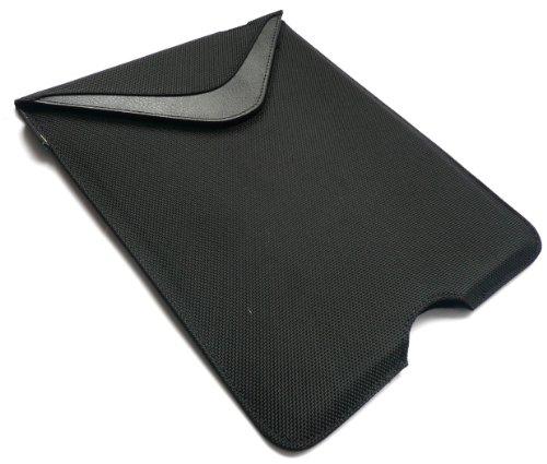 Hülle-Mate Schwarz Vertikale Nylon Etui Tasche Hülle Hülle Sleeve Folio geeignet für Archos 101 Magnus Plus 10.1 Zoll Tablet
