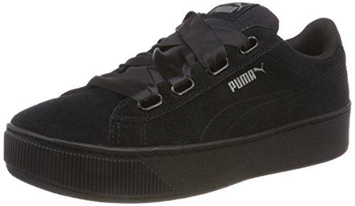 Puma Vikky Platform Ribbon S, Damen Sneaker, Schwarz (PUMA Black-PUMA Black 01), 40 EU (6.5 UK)