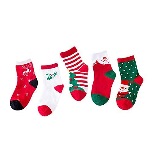 Cosmos 4 Paare Mittlere Cartoon Socken süße Kinder Boot Socken lässig warme Socken in der Röhre Herbst und Winter Socken
