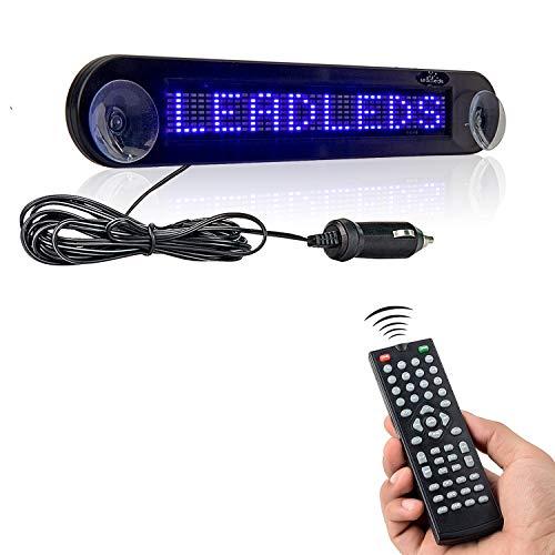 Leadleds scroll-display voor de auto, LED-display, DC 12 V, beweegbaar rood bericht, programmeerbaar met afstandsbediening