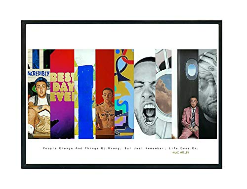 Rob's Tees Custom MM Album History Poster, Hype Posters, Rap Song Quote Poster, Music Lovers Poster Art Hip Hop Wall Art (Frame NOT Included) (18x24)