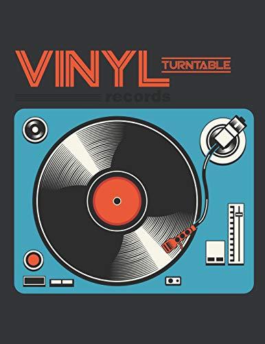 Notebook: Retro LP Vinyl Record Turntable Player DJ Music Journal & Doodle...
