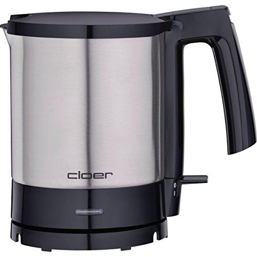 Cloer 4700 Wasserkocher / 2000 W / Trockengeh- und Überhitzungsschutz / innen liegende Füllmengenmarkierung / 1,5 Liter / mattierter Edelstahlbehälter