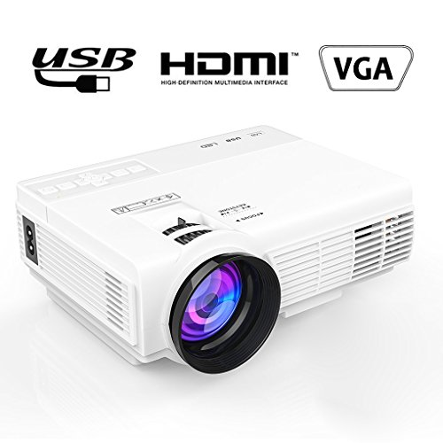 MAXESLA LED LCD 1500 Lumen Mini Movie Projector Multimedia Home Theater Video Projector with AV USB HDMI Input for Home Cinema TV Laptop Game iPhone Movie