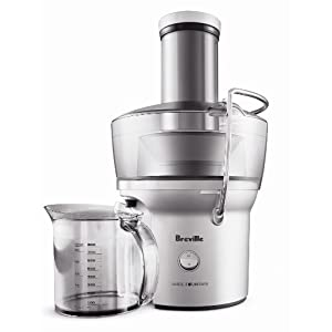 Breville BJE200XL Juice Fountain Compact Centrifugal Juicer, Silver |