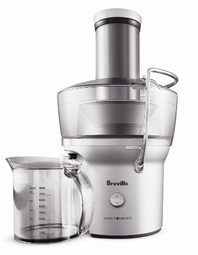 Breville BJE200XL Juice Fountain Compact Centrifugal Juicer,...